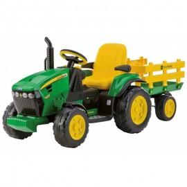 Elektrický traktor John Deere Power Pull 12V