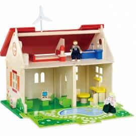Viga drevený ekologický domček pre bábiky