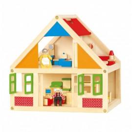 Viga drevený domček pre bábiky
