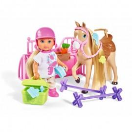 Simba bábika Evička s koníkom