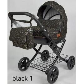 Kočík pre bábiky Nestor Viki black 1