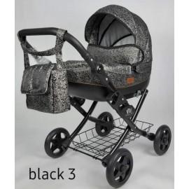 Kočík pre bábiky Nestor Viki black 3