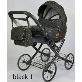 Kočík pre bábiky Nestor Viki Retro Black 1
