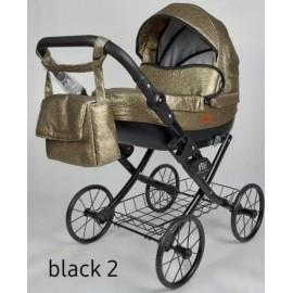 Kočík pre bábiky Nestor Viki Retro Black 2