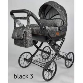 Kočík pre bábiky Nestor Viki Retro Black 3
