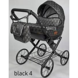 Kočík pre bábiky Nestor Viki Retro Black 4
