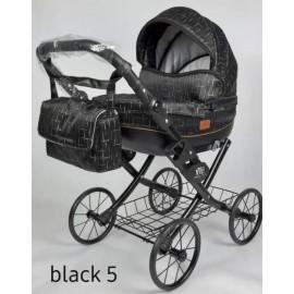 Kočík pre bábiky Nestor Viki Retro Black 5