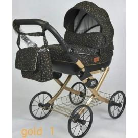 Kočík pre bábiky Nestor Viki Retro Gold 1