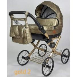 Kočík pre bábiky Nestor Viki Retro Gold 2