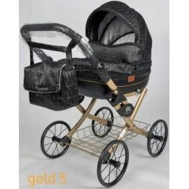 Kočík pre bábiky Nestor Viki Retro Gold 5