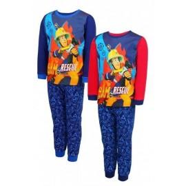 Setino detské pyžamo Požiarnik Sam modro-červené 98