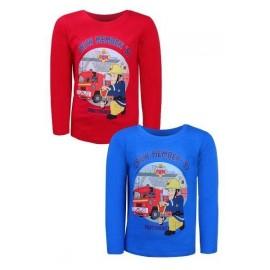 Setino tričko dlhý rukáv Požiarnik Sam modré 962-456