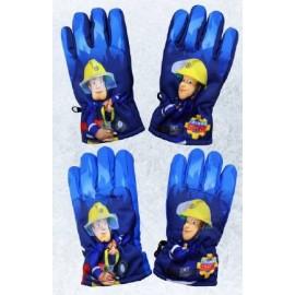 Setino prstové lyžiarské rukavice Požiarnik Sam