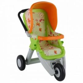 Wader QT športový kočík pre bábiky zeleno-oranžový