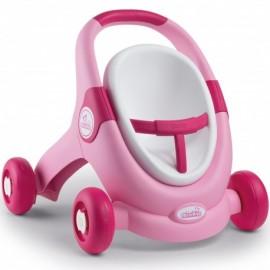 Smoby MiniKiss BabyWalker 3v1 ružový