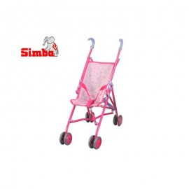 Simba golfový kočík pre bábiky 60 cm ružový