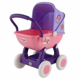 Wader kočík pre bábiky QT Arina ružovo-fialový