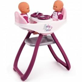 Smoby Baby Nurse stolička pre dve bábiky
