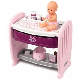 Smoby Baby Nurse 2v1 postieľka, pult a bábika