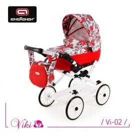 Kočík pre bábiky Adbor Viki Retro 02