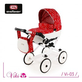 Kočík pre bábiky Adbor Viki Retro 03