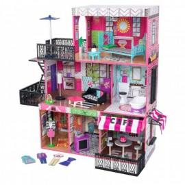 Kidkraft drevený domček pre bábiky Loft Brooklyn