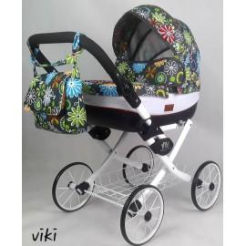 Kočík pre bábiky Nestor Viki Retro Limited 02 white