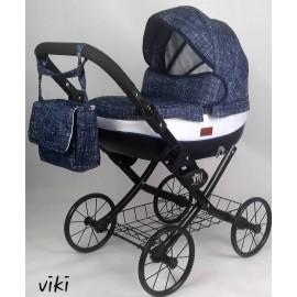 Kočík pre bábiky Nestor Viki Retro Jeans blue black