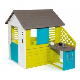Domček Smoby Pretty s kuchyňou modrý
