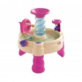 Pieskovisko Little Tikes s vodnou fontánou ružové