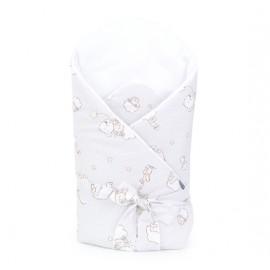 Mamo Tato bavlnená zavinovačka s výstužou a mašľou Premium Sen béžová