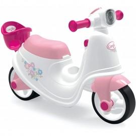 Smoby skúter Corolle Ride On bielo ružový