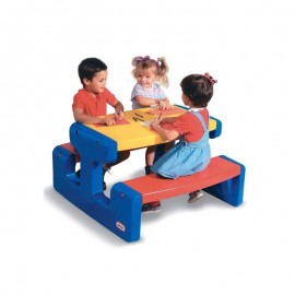 Little Tikes piknikový stôl s lavičkami modrý