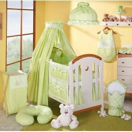 Mamo Tato 14 dielny komplet do postieľky Spiaci medvedík s látkovými nebesami