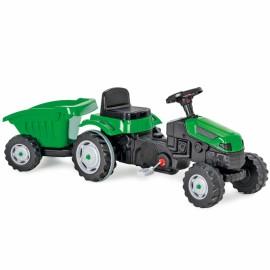 Woopie traktor Max na pedále s prívesom zelený