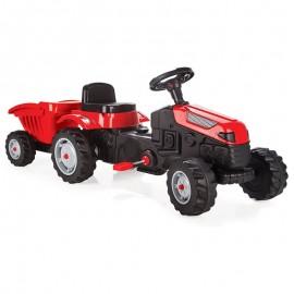 Woopie traktor Max na pedále s prívesom červený