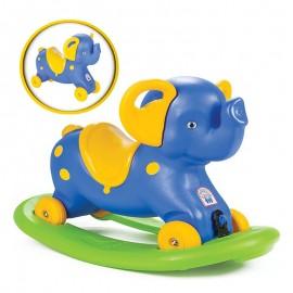 Woopie odrážadlo a hojdačka 2v1 Slon modrý