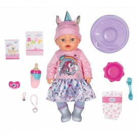 Baby Born interaktívna bábika Soft Touch Unicorn Girl 43 cm