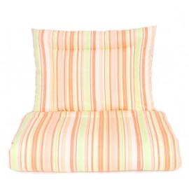Mamo Tato výplne bavlnené antialergické 100x135 cm Pásiky oranžové