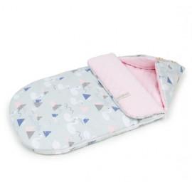 Mamo Tato multifunkčný fusak-zavinovačka Velvet Labute sivá/ružová 0-12 mesiacov