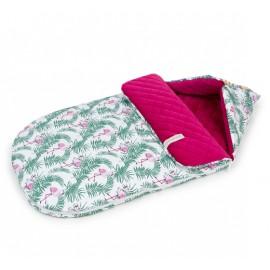 Mamo Tato multifunkčný fusak-zavinovačka Velvet Flamingo/čerešňa 0-12 mesiacov