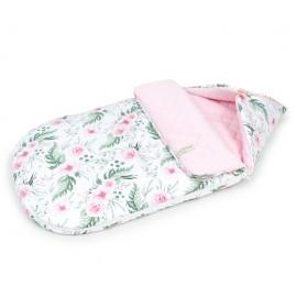 Mamo Tato multifunkčný fusak-zavinovačka Velvet Ružový sad/ružová 0-12 mesiacov