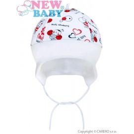 Detská bavlnená čiapočka New Baby Lienka veľ.62