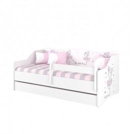 Detská posteľ Lulu biela Baletka 160x80 cm
