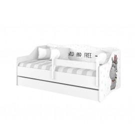 Detská posteľ Lulu biela Hippo 160x80 cm