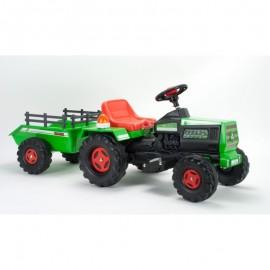 INJUSA elektrický traktor Basic 6V s prívesom