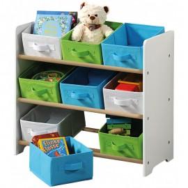 Delta organizér na hračky biely s farebnými boxami