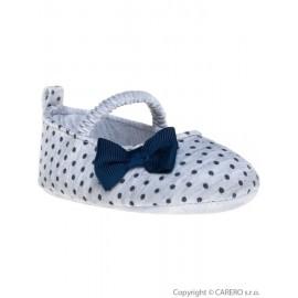 Detské topánočky Bobo Baby 12-18m sivé s mašličkou