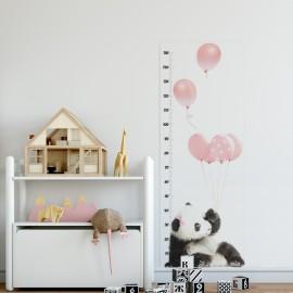 Mierka vzrastu - Panda ružová