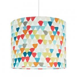 Textilná závesná lampa Trojuholníky mini